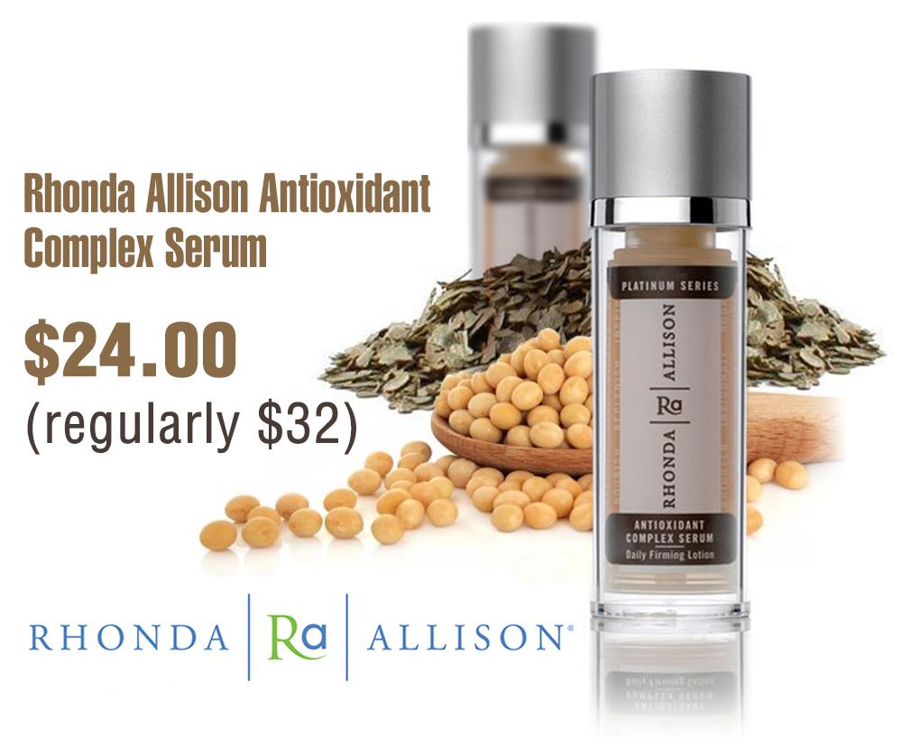 rhonda allison anitoxidant complex serum (SWINA Product of the Week)